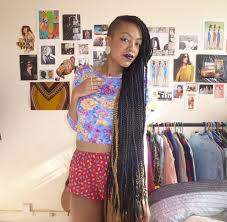 half shaved with braids box braids with shaved side cute style hailqueenindia nappy