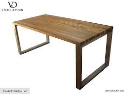 design tischle esstisch massivholz edelstahl serie munich tisch holz eiche