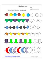 pattern math worksheets preschool kindergarten math worksheets spot the pattern maths free patterns on