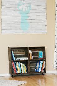 Crates For Bookshelves - diy wood crate bookshelf sew much ado