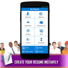 Best Free Resume Builder Ipad by Resume Builder Android Apps On Google Play