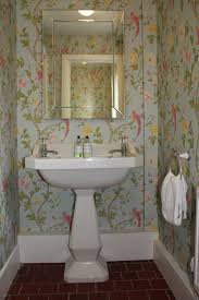 cloakroom with floral wallpaper bathroom stuff pinterest