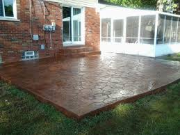 Patio Concrete Designs Home Design Backyard Concrete Patio Ideas Mediterranean Medium