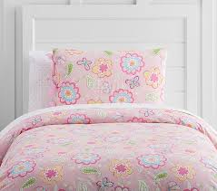 pink floral bedding pottery barn kids