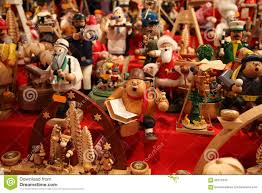 traditional german wooden toys at the fair in nuremberg stock