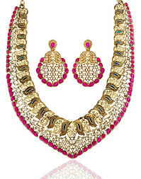 colour pearl necklace images Buy zaveri pearls pearl multi colour choker necklace with earrings jpg