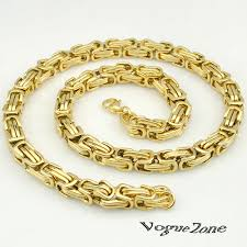 chain link necklace with images 51 big gold link necklace popular thick gold chain necklace buy jpg