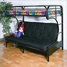 Amazoncom Coaster Furniture Twin Over Futon Bunk Bed In Black - Futon couch bunk bed