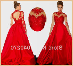 red prom dresses with lace sleeves naf dresses