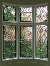 leaded glass french doors leaded glass windows in a bay window area great idea privacy