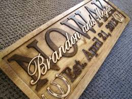 personalized wedding plaque rustic couples personalized sign custom wood family last name