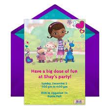doc mcstuffins party invitation disney family