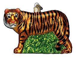 world ornaments tiger 12115