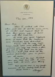 Bill Clinton Hometown by Letter George H W Bush Left For Bill Clinton Goes Viral