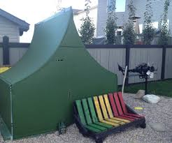 army tent made from half pipe 4 steps with pictures