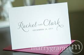 personalized cards custom thank you cards name date thin style