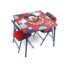 Folding Table And Chair Set For Toddlers Disney Mickey Mouse Playground Pals Activity Table Set Walmart Com