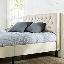 Upholstered Platform Bed King Zinus Deluxe Upholstered Nailhead Trim Platform Bed