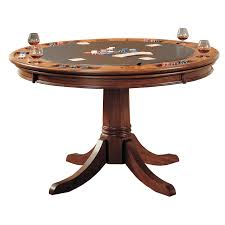 Poker Dining Room Table Steve Silver Tournament Dining Game Table Cherry Hayneedle