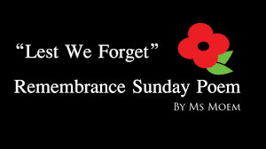 remembrance sunday poem remembrance day youtube