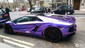 lamborghini purple and black lamborghini aventador lp700 4 roadster 31 october 2017 autogespot