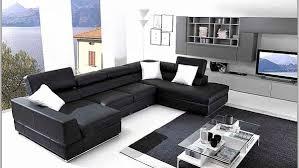 canapé design noir et blanc kyotoglobe com canape inspirational canapé design noir et blanc