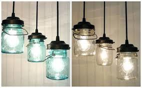 Pendant Light Chandelier Blue Mason Jar Hanging Lights Pendant Ball Lighting Chandelier