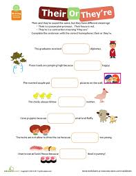 worksheet 612792 their there they re worksheet u2013 homophones