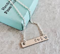 monogrammed jewelry sale personalized bar necklace custom jewelry monogrammed jewelry