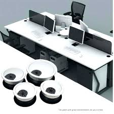 Plastic Office Desk Office Desk Wire Plastic Cable Grommet Table
