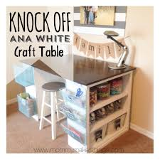 Diy Craft Desk With Storage White Craft Table