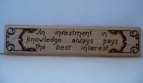 knowledge quotes pyrography wooden plaques home decor