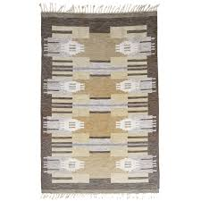 Modern Flat Weave Rugs Swedish Mid Century Modern Wool Flat Weave Rug By Ingegerd Silow