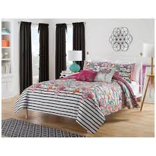 At Home Furniture Harmony At Home Flower Power 5 Piece Reversible Bedding Comforter