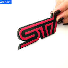 forester decal 3d car styling sti sticker abs decal emblem badge sticker for