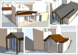 3d modeling danuta rzewuska rear house extension space visualization on client request london united kingdom sketchup software