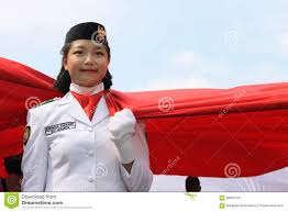 Ceremony Flag Indonesian Flag Raisers In A Ceremony Editorial Stock Image