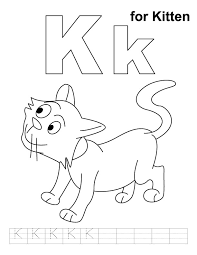 kitten coloring handwriting practice download