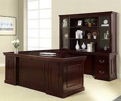 Office Star Computer Desk by Townsend Series Traditional Executive U0027u U0027 Shape Desk W Hutch Osp