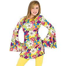 Halloween Hippie Costumes Amazon Flower Power Disco Hippie Costume Clothing