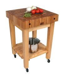 Cherry Kitchen Island Cart Furniture Round Cherry Boos Butcher Block With Stainless Steel