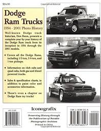 dodge trucks through the years dodge ram trucks 1994 2001 photo history don bunn 9781583880517