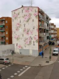 concrete vs concrete new mural by eron in riccione italy new vintage floral wall paper mural by escif in madrid spain