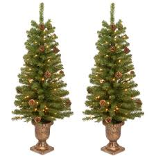 home accents porch potted trees artificial