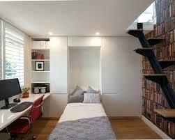 Small Built In Desk Modern Office Room Ideas Small Minimalist Built In Desk Medium