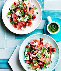 gourmet traveller recipe for watermelon grilled tomato and