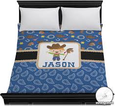 Western Duvet Covers Blue Western Duvet Cover Personalized Youcustomizeit