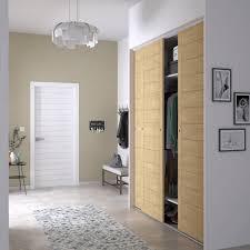 porte de placard chambre porte de placard coulissante composer spaceo d cor b ton gris avec