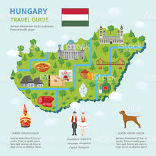 Map Of Budapest Infographic Map Of Hungary Stock Vector Art 642026304 Istock