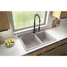 lowes 60 inch kitchen sink base cabinet karran drop in 33 in x 22 in concrete offset bowl 1 kitchen sink